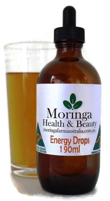 AUSTRALIAN Moringa DROPS - Energy Drink 190ml, Made To Order