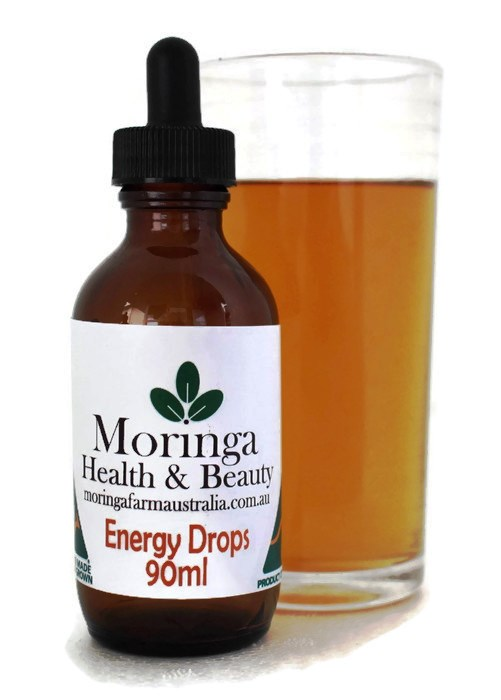 AUSTRALIAN Moringa DROPS - Energy Drink 90ml, Made To Order