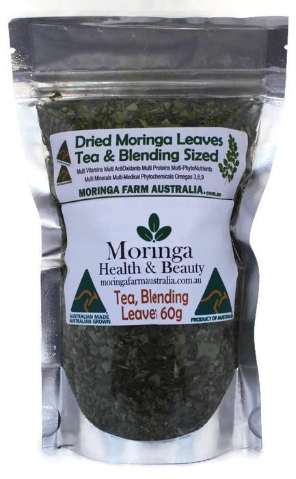 AUSTRALIAN Moringa DRIED LEAVES 60G -As Tea or for Blending - Made To Order