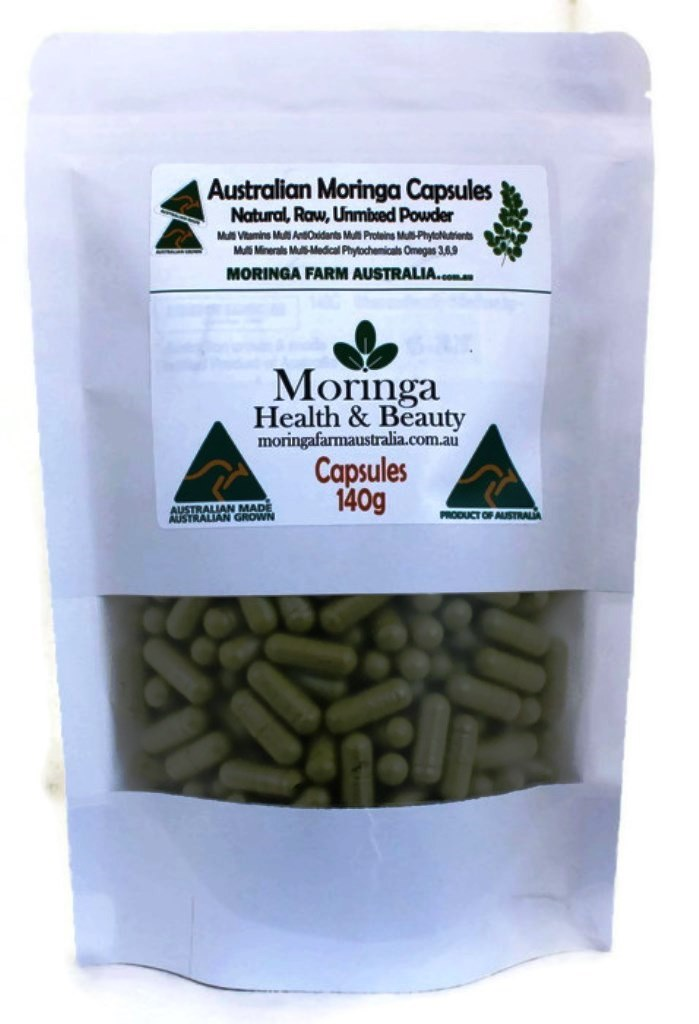 Moringa in VEG. CAPSULES 140G apprx 265-300 Made To Order