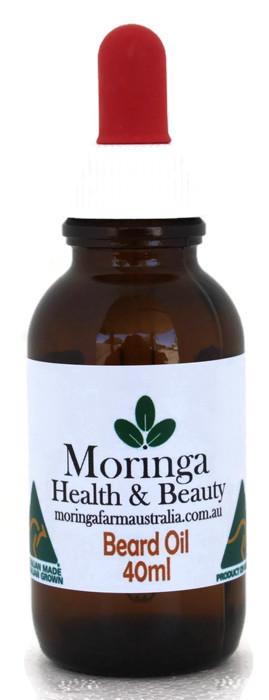 AUSTRALIAN Moringa BEARD OIL - MORINGA, ARGAN, AVOCADO, & SANDLEWOOD oils 'Into the woods' - 40ml