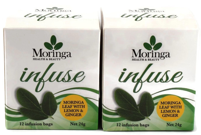 AUSTRALIAN Moringa TEA BAGS. Moringa LEAF with Ginger & Lemon X 2 Boxes - 24 bags