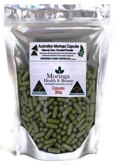 AUSTRALIAN Moringa in VEG. CAPSULES 280G apprx 535-600 Made To Order