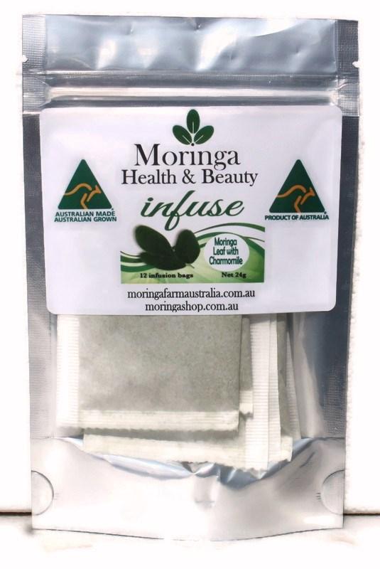 Moringa TEA BAGS. Moringa LEAF with Charmomile X 12 Bags