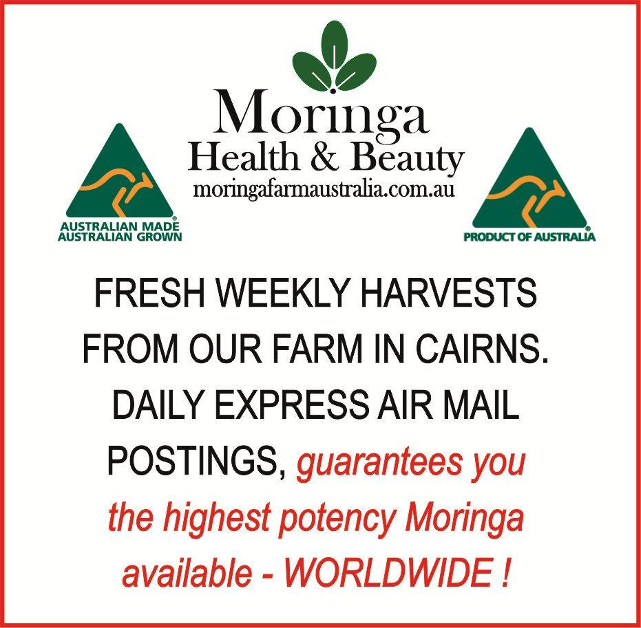 AUSTRALIAN Moringa DRIED LEAVES 100G -Tea/Blending sized - Made To Order