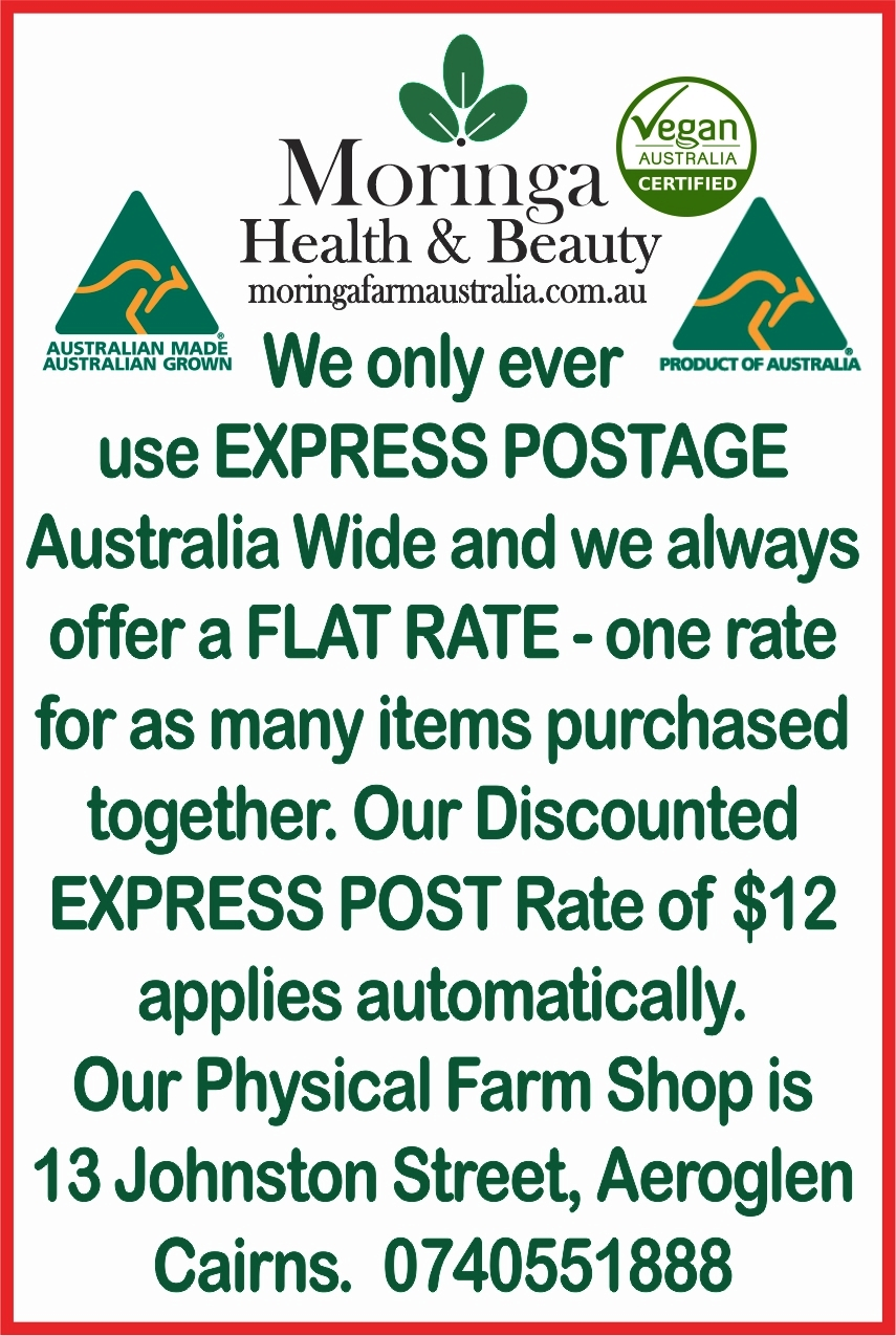 Weekly harvests, Daily Express Posted Australian Moringa, Cairns